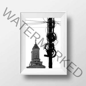 Fotografie a bisericii Trei Ierarhi din Iași Print pe hârtie metalică cu reflexii în multiple culori 270g, rezistentă la apă Ediție Limitată 2/10, Lucrare Semnată cu Certificat de Autenticitate